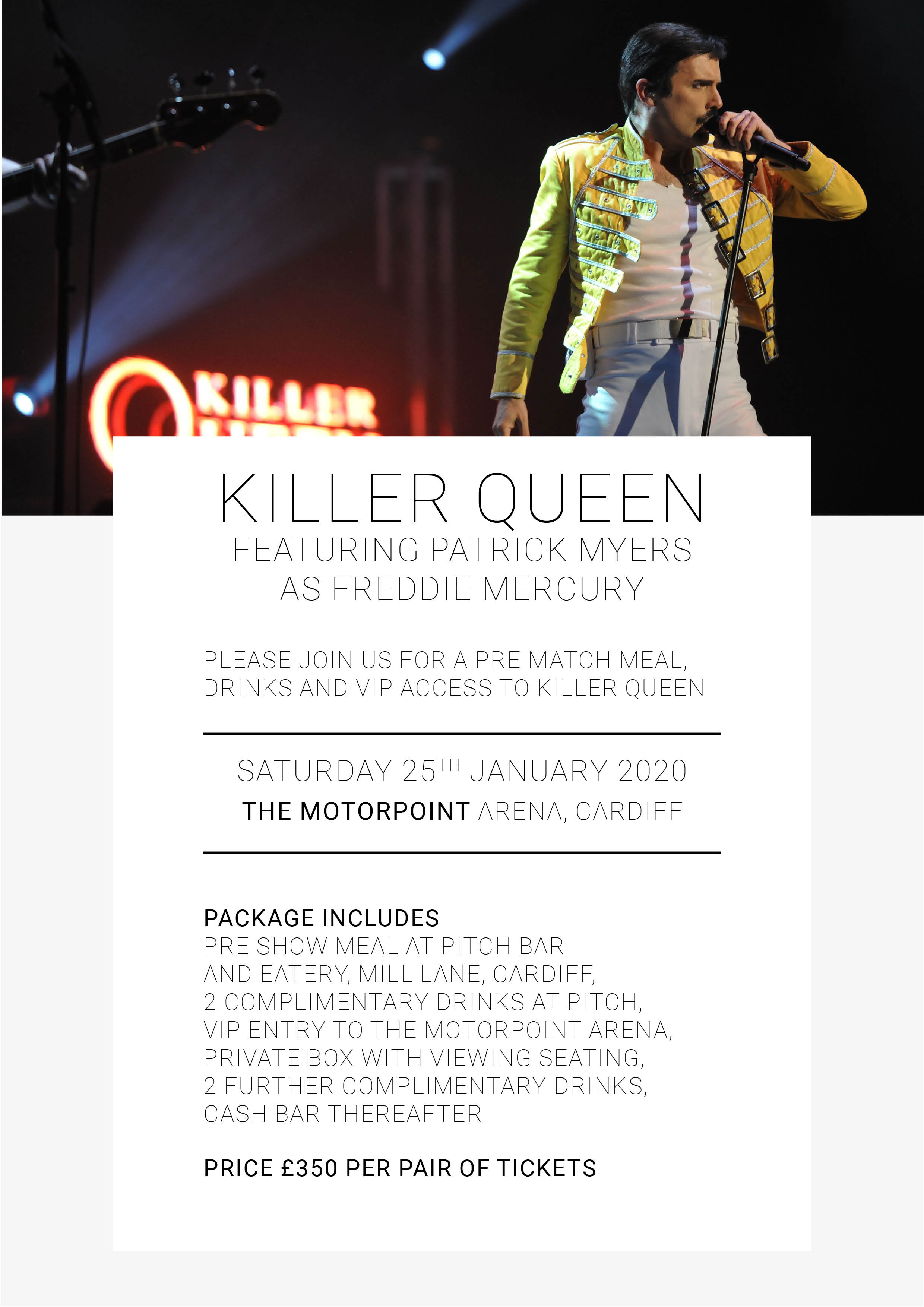 Killer Queen featuring Patrick Myers as Freddie Mercury